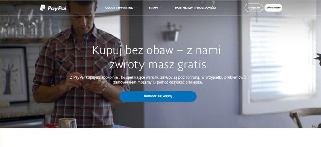 PayPal strona główna