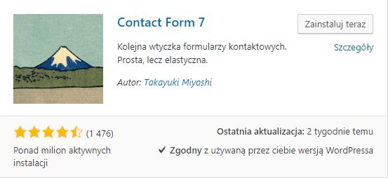wtyczka formularza kontaktowego do wordpressa - tworzenie bloga