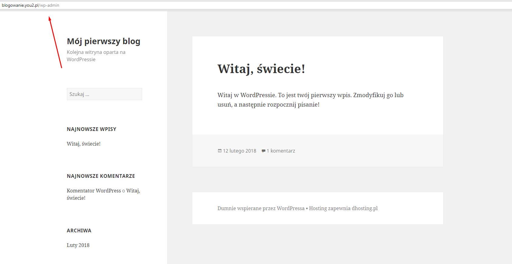 jak zalogować się do bloga na wordpressie