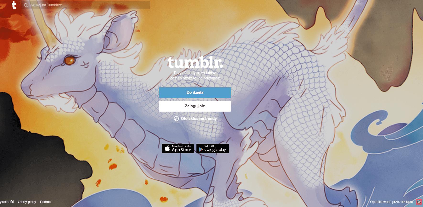 zakładanie bloga na tumblr