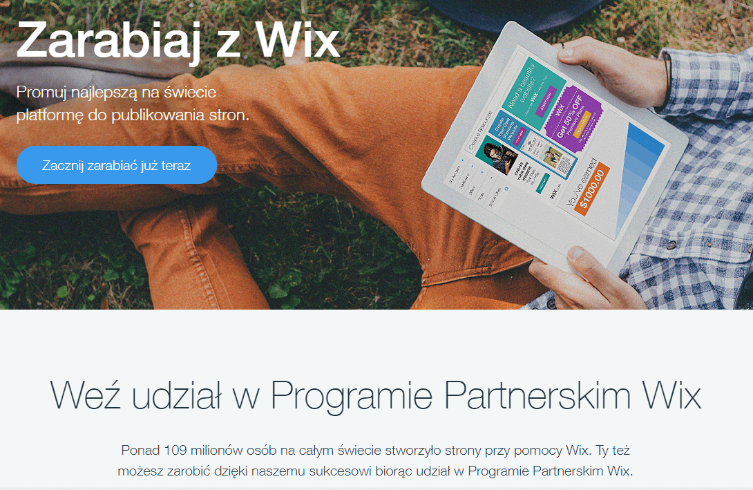 program partnerski WIX affiliacyjny